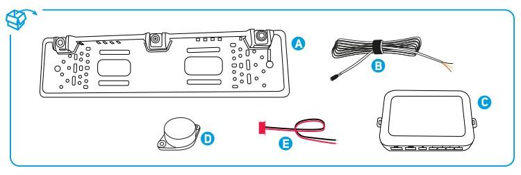 kit cam ra de recul wifi radar de recul wifi beeper h4wifi. Black Bedroom Furniture Sets. Home Design Ideas